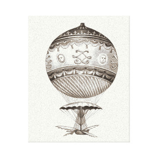 Steampunk Hot Air Balloon Stretched Canvas Prints