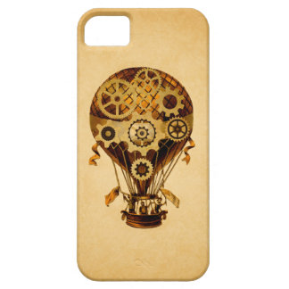 Steampunk Hot Air Balloon, Gears/Cogs iPhone SE/5/5s Case
