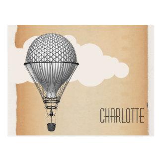 Steampunk Hot Air Balloon Post Cards