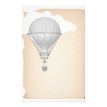 Steampunk Hot Air Balloon Stationery
