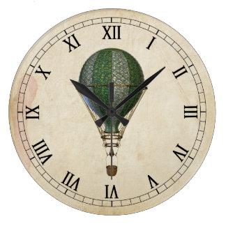 Steampunk Hot Air Balloon Wall Clock