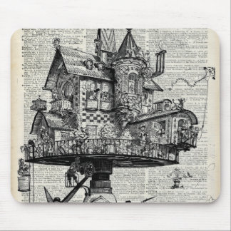 Steampunk house mouse pad