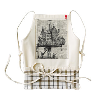 Steampunk house zazzle HEART apron