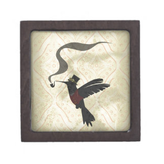 Steampunk Humming Bird Jewelry Box