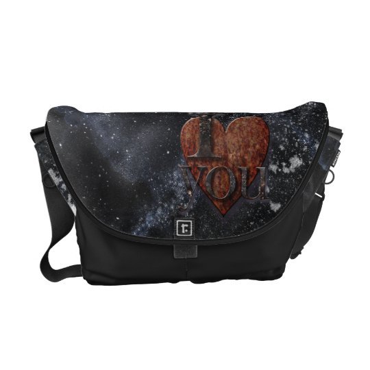 Steampunk I Love You Valentine Courier Bag
