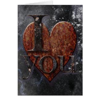 Steampunk I Love You Valentine Greeting Card
