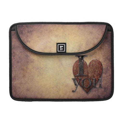 Steampunk I Love You Valentine Sleeve For MacBooks