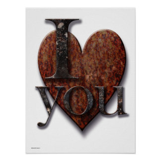 Steampunk I Love You Valentine Poster