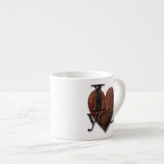 Steampunk I Love You Valentine Espresso Cups