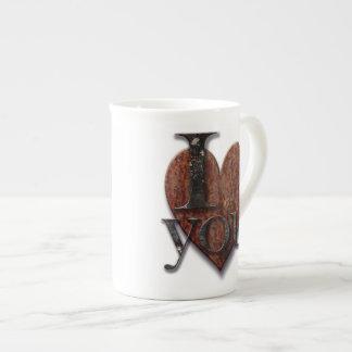 Steampunk I Love You Valentine Bone China Mugs