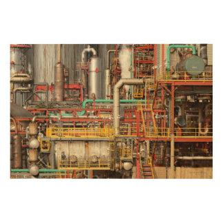 Steampunk - ilusión industrial impresiones en madera