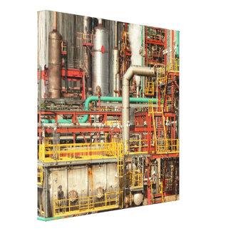 Steampunk - ilusión industrial lienzo envuelto para galerías