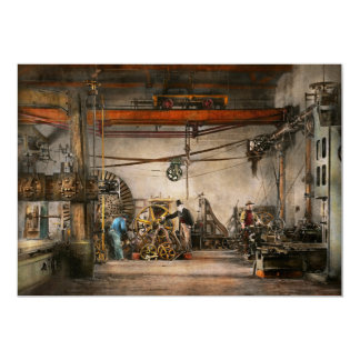 Steampunk - In an old clock shop 1866 Card