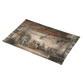 Steampunk - In an old clock shop 1866 Cloth Placemat