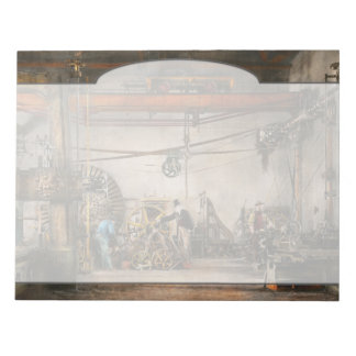 Steampunk - In an old clock shop 1866 Notepad