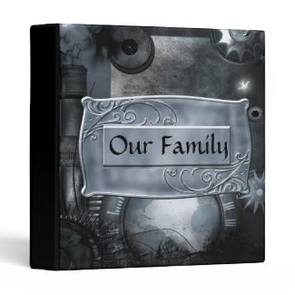 Steampunk In Blue gothic Avery Binder