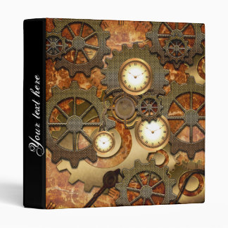 Steampunk in golden colors binder