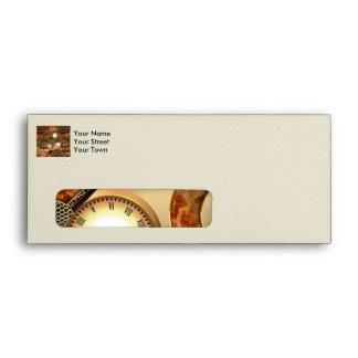 Steampunk in golden colors envelope