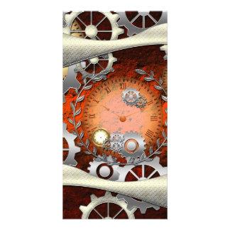 Steampunk in wonderful edelegant design photo card
