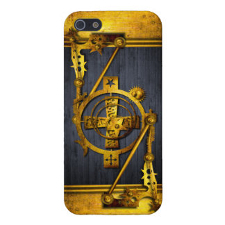 Steampunk in Wood & Brass iPhone SE/5/5s Case