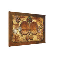 Steampunk Industrial Collage Artwork for the Wall Canvas Print