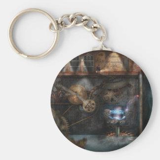 Steampunk - Industrial Society Basic Round Button Keychain