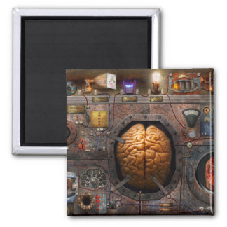 Steampunk - Information overload 2 Inch Square Magnet