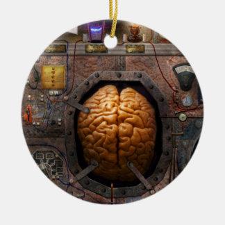 Steampunk - Information overload Ceramic Ornament