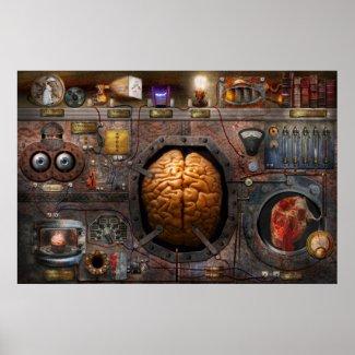 Steampunk - Information overload Print