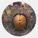 Steampunk - Information overload Classic Round Sticker