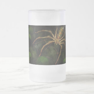 Steampunk - Insect - Arachnia Automata Frosted Glass Beer Mug