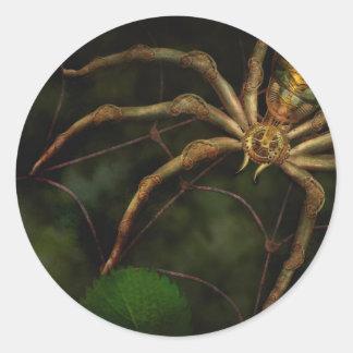 Steampunk - Insect - Arachnia Automata Round Stickers