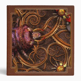 Steampunk - Insect - Itsy bitsy spiders 3 Ring Binder