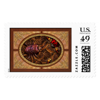 Steampunk - Insect - Itsy bitsy spiders Postage