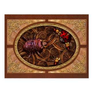 Steampunk - Insect - Itsy bitsy spiders Postcard
