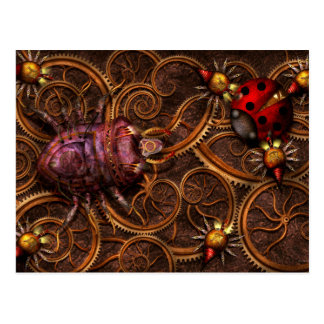 Steampunk - Insect - Itsy bitsy spiders Post Cards