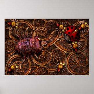 Steampunk - insecto - arañas bitsy de Itsy Póster