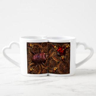 Steampunk - insecto - arañas bitsy de Itsy Set De Tazas De Café