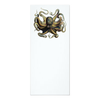 Steampunk Inspired Octopus Card