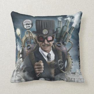 SteamPunk Inventor Throw Pillow