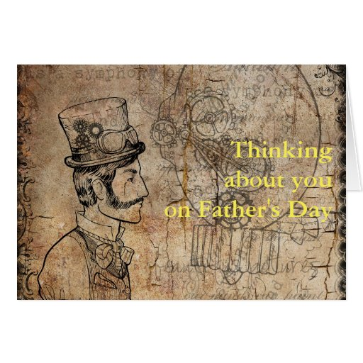 Steampunk Inventor Top Hat Father's Day Card
