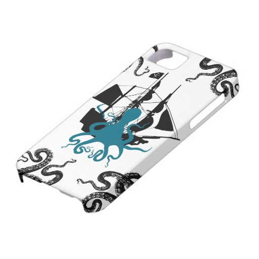 Steampunk iphone5 pirate - Kraken Octopus Attack! iPhone 5 Cover