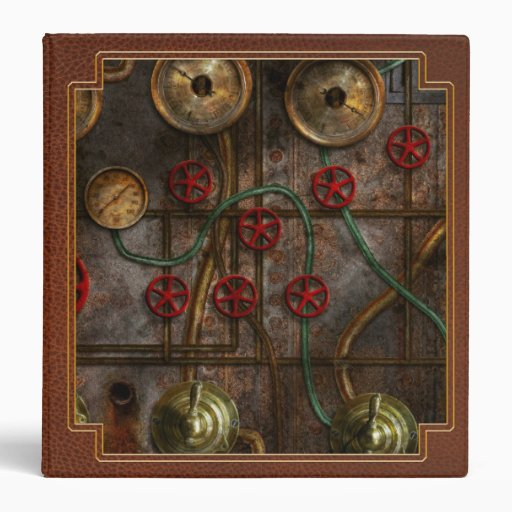 Steampunk - Job jitters 3 Ring Binder