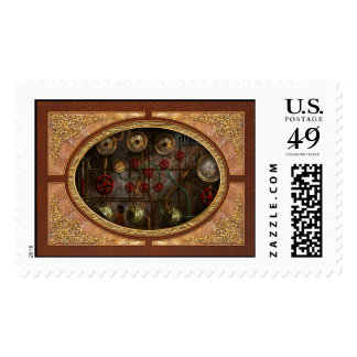 Steampunk - Job jitters Postage Stamp