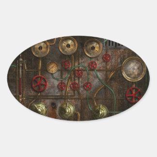 Steampunk - Job jitters Oval Sticker