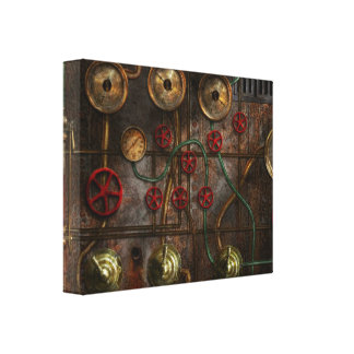 Steampunk - Job jitters Stretched Canvas Prints
