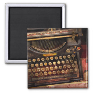 Steampunk - Just an ordinary typewriter 2 Inch Square Magnet