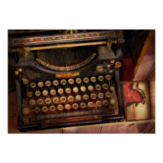 Steampunk - Just an ordinary typewriter Poster