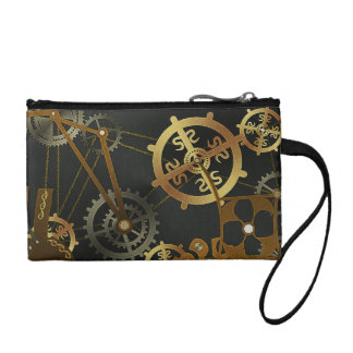 Steampunk Key Coin Clutch