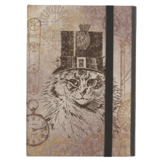 Steampunk Kitty Cat in Top Hat, Gears, Pocketwatch iPad Air Cases